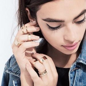 Luv AJ x Jewelmint Gold and Pearl Stacking Rings